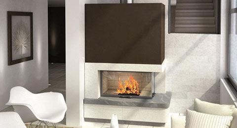 La création d'une cheminée moderne