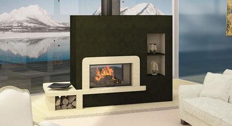 Installation d'un insert de cheminée